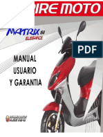 Manual de usuario de matrix elegance 150cc