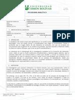 Programa Analítico Trabajo Social