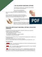 Criterios de Oclusión Funcional Óptima