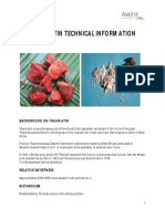 Thaumatin Technical Information Sheet Short
