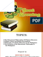 Filipino Educators and Thier Philosophies