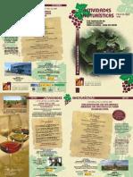Programa Actividades Enoturísticas 2010