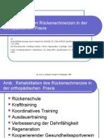 Rehabilitation von Rückenschmerzen in der Orthopädischen Praxis