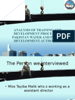 Training and development analysis in Wapda