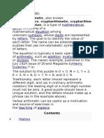 Verbal Arithmetic Cryptarithm