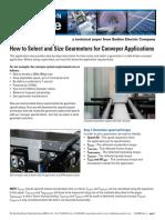 Size Gearmotors for Conveyor