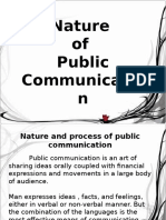 Nature of Public Communication