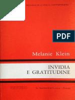 Melanie Klein-Invidia E Gratitudine-Martinelli