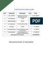 NON WOVEN PLANT (PROJECT REPORT).doc