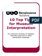 10 Top Tips for Interpretation 2011 1