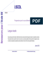 Programa Cycle 3. Progression-pedagogique