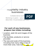 Hospitality Industry Businesses LO1 Collaborative Work
