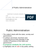 1 Public Administration