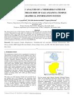 Morphometric Analysis of a Vrishabhavathi Sub Watershed Upstream Side of Gali Anjaneya Temple Using Geographical Information System