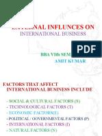 External Influences on International Business