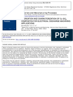 Kuen-ming Shu Fabrication and Characterization of Cu–Sicp Composites for Electrical Discharge Machining Applications