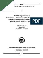 SOA Ph.d Regulation