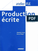 Causa m Megre b Production Ecrite Niveaux c1 c2