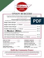 Tuckers Onion Burger Menu 2013