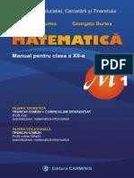 Manual matematica M1 12 Burtea