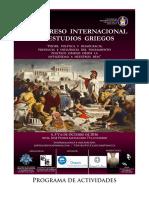 Programa v Congreso Internacional de Estudios Griegos PDF 37 Mb