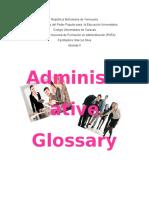 Glosario en Ingles Terminos administrativos