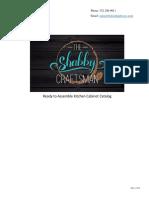 The Shabby Craftsman Kitchen Cabinet Catalog