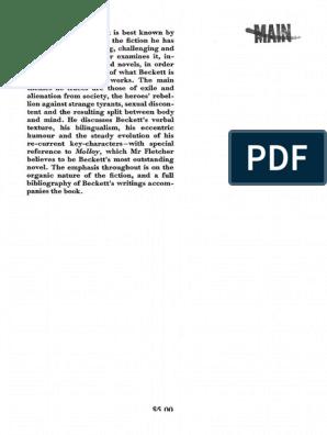 1 Pdf Samuel Beckett Fiction Literature