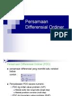 Penyelesaian Persamaan Diferensial Ordiner
