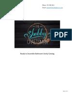 The Shabby Craftsman Bathroom Vanity Catalog