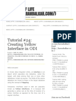 Tutorial #24_ Creating Yellow Interface in ODI