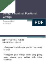 Benign Paroximal Positional Vertigo