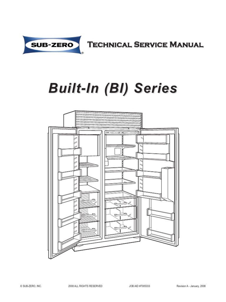 BI Series Service Manual | Door | Refrigerator on