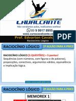 Raciocínio Lógico- Polícia Militar Do Ceará 2016
