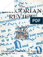 The Gregorian Review (GIA, Vol. v, n.1, 1958)