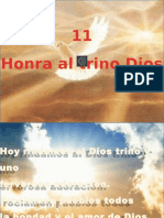11. Honra Al Trino Dios