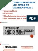 Sesion 1 - (Grado de Hiperestaticidad)