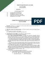 Punjab Finance Act