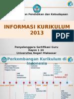 Informasi Kurikulum 2013 (4 Jam)
