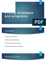 Pricing Strategies and Programs