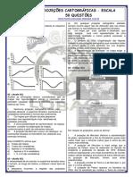 PROJEÇÕES CARTOGRÁFICAS - ESCALA - 50 QUESTÕES.pdf