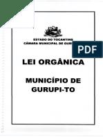 Lei Organica de Gurupi 20166
