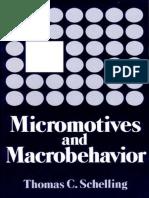 Schelling Micromotives and Macrobehavior 1978