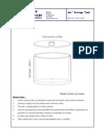 6m3 Storage Tank Data Sheet
