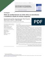 Envelheciment Em Ácido Citrico de Resina Composta e Ensaio de Microduresa e Flexão