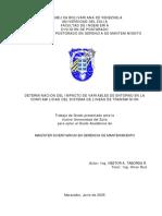 DETERMINACION DEL IMPACTO DE VARIABLES DE ENTORNO EN LA CONFIABILIDAD DEL SISTEMA DE LINEAS DE TRANSMISION