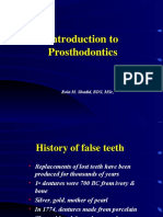 Lecture 1 Prosthodontic