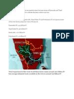 Kaveri river water dispute.docx
