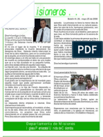 boletin 26 - MAYO 25 2008 - Refelexion hno Argote - Accidente de  avion en Honduras