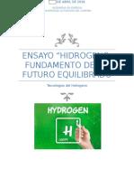 Ensayo Hidrogeno
